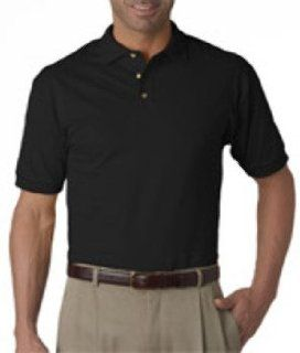 Jerzees Adult Heavyweight Cotton Hdcotton Jersey Polo, Black, 2Xl