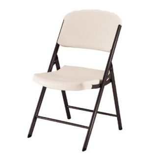 Folding Chair Lifetime Heavy Duty Folding Chair  Almond (4 Pack)