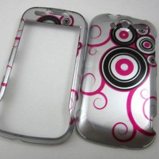 Hard Phone Cases Covers for Htc My Touch 4g T Mobile (Not the Slider) Pink Black Polka Dots Cell Phones & Accessories