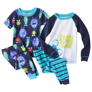 Just One You made by Carters Infant Toddler Boys 4 Piece Monster Pajama Set