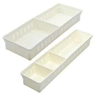 KLOUD City � 2 pcs white kitchen cabinet closet drawer grid divider Kitchen & Dining