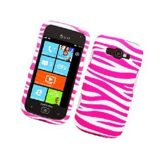 Samsung Focus 2 i667 SGH I667 Pink White Zebra Stripe Cover Case Cell Phones & Accessories