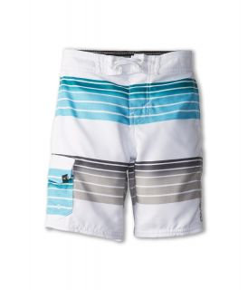 ONeill Kids Santa Cruz Stripe Boardshort 1 Boys Swimwear (White)