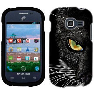 Samsung Galaxy Centura Black Cat Face Phone Case Cover Cell Phones & Accessories