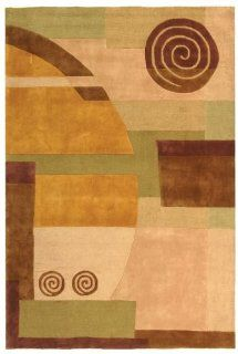 Safavieh RD643A 6 Rodeo Drive Collection Handmade Beige Wool Area Rug 6 Feet by 9 Feet