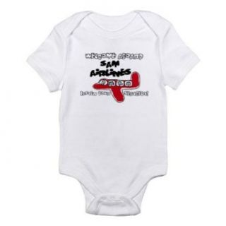 Personalized Sam Airlines Airplane Plane Baby Boy Infant Toddler Kids Shirt, Christmas Collection Clothing
