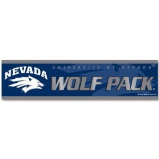 University of Nevada Reno Wolf Pack Car Bumper Sticker  Sports Fan Bumper Stickers  Sports & Outdoors