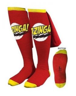 Big Bang Theory Red Bazinga Caped Socks, Red, One Size Clothing