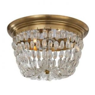 Visual Comfort CHC4207ABSG Chart House Medium 2 Light Paris Flea Market Flush Mount in Antique Burnished Brass CHC4207ABSG   Lighting Products