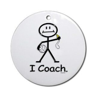 Volleyball Coach Ornament Round Round Ornament   Decorative Hanging Ornaments