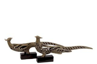 Urban Trends Collection UTC80196 Resin Pheasant Bird Statue, Set of 2