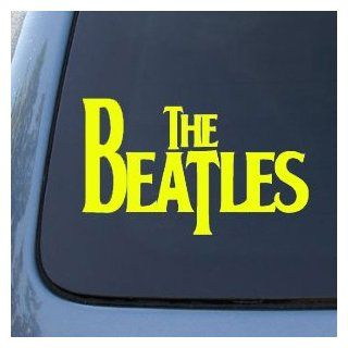 "The BEATLES Band Logo   6"" YELLOW  Vinyl Decal WINDOW Sticker   NOTEBOOK, LAPTOP, WALL, WINDOWS, ETC. Automotive"
