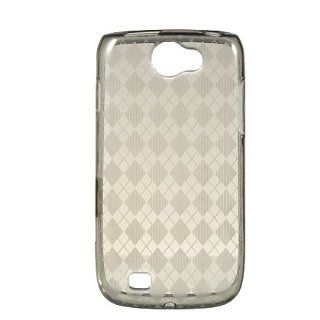 Samsung Exhibit 2 4G (SGH T679) TPU Sleeve Candy Skin Cover Case Cell Phone Protector   Smoke Checker Cell Phones & Accessories
