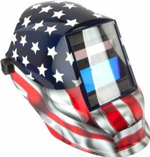 Forney 55650 Automatic Darkening Welding Helmet, Old Glory Trident, American Flag