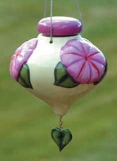 Bird Brain Ceramic LeFleur Morning Glory Hummingbird Feeder (Discontinued by Manufacturer)  Patio, Lawn & Garden