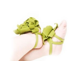 Newborn Flower Decorated Baby Girls Cotton Pram Barefoot Shoes Infant Toddler Socks Green Baby