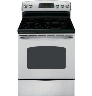 "GE JB655STSS 30"" Stainless Steel Electric Smoothtop Range Appliances"