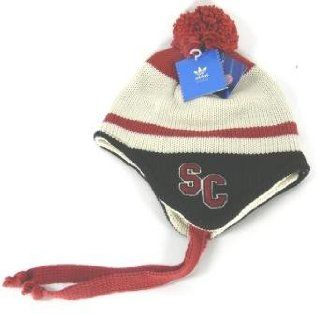 South Carolina Gamecocks Tassel Knit Beanie Stripe Design  Sports Fan Beanies  Sports & Outdoors