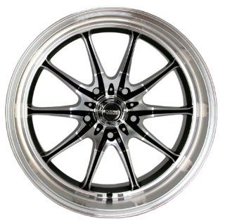 Kyowa Racing Trek 10 (Series 656) Black/Machined   18 x 8 Inch Wheel Automotive