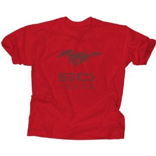 Genuine Ford Men's Mustang 50 Years 50th Anniversary Tee Shirt   Red  Size 2XL Automotive