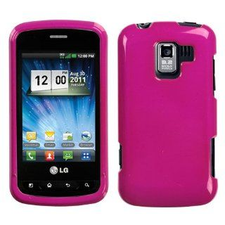 Solid Color Hard Plastic Case Protector Cover (Pink) for LG Enlighten VS700 / Optimus Slider LS700 / Optimus Q Verizon Virgin Mobile Cell Phones & Accessories