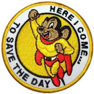 Mighty Mouse Superhero to Save the Day Movie Cartoon Jacket Shirt Iron Patch