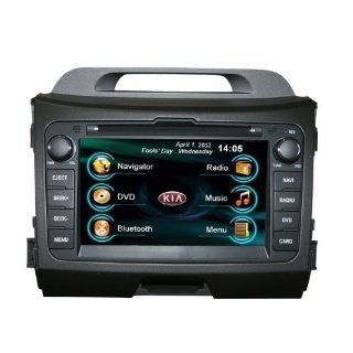 OEM REPLACEMENT IN DASH RADIO DVD GPS NAVIGATION HEADUNIT FOR KIA SPORTAGE R WITH REAR VIEW CAMERA  In Dash Vehicle Gps Units  GPS & Navigation