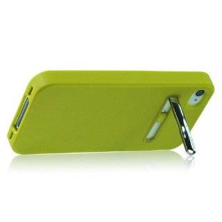 ZuGadgets Green Candy Colors Soft Plastic Case Cover Shell Protective Skin with Stand for iPhone 4/4s (4474 9) Cell Phones & Accessories