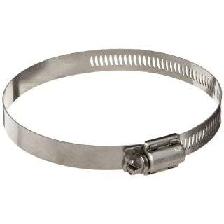 "Dixon HSS312 Stainless Steel Worm Gear Clamp with SAE 300 Stainless Steel Screw, 9/16"" Band Width, 17 1/8"" to 20"" Hose OD (Pack of 10)"