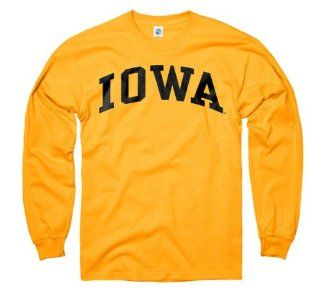 Iowa Hawkeyes Youth Gold Arch Long Sleeve T Shirt  Sports Fan T Shirts  Sports & Outdoors