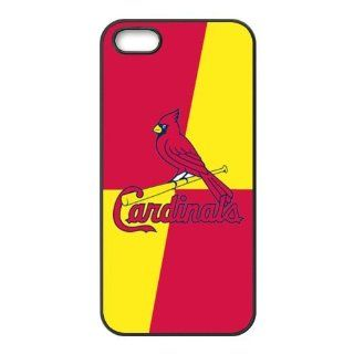 Nice Rectangle & MLB St. Louis Cardinals Logo Accessories Apple Iphone 5/5s Waterproof TPU Back Cases Cell Phones & Accessories