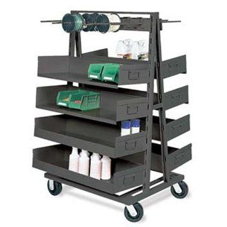 "Valley Craft F81815A2 Heavy Duty Double Sided A Frame, 2500 lbs Load Capacity, 38"" Width x 63"" Height x 40"" Depth Science Lab Storage Racks"