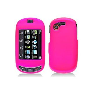 Hot Pink Hard Cover Case for Samsung Gravity Touch SGH T669 Cell Phones & Accessories