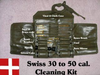 Swiss Gun Cleaning Kit made by S.I.G. Rifle Co. .30 Cal   .50 Cal Used But In Good Condition  Other Products