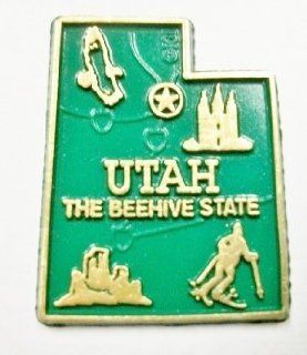 Utah the Beehive State Map Fridge Magnet Refrigerator Magnets Kitchen & Dining