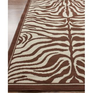 nuLOOM Safari Zebra Print Brown Rug