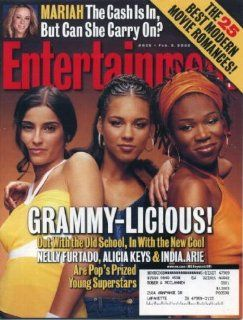 Entertainment Weekly February 8, 2002 Nelly Furtado & Alicia Keys & India.Arie/Grammy Awards Cover, Mariah Carey, Sundance Festival Entertainment Weekly Books
