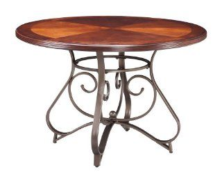 Powell Hamilton Dining Table   Pewter Dining Table