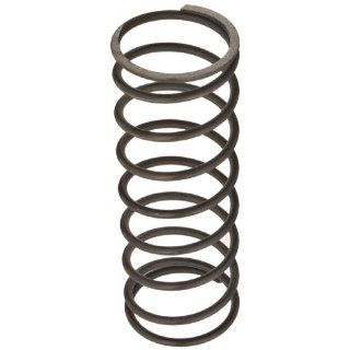 "Music Wire Compression Spring, Steel, Inch, 1.937"" OD, 0.148"" Wire Size, 2.675"" Compressed Length, 5"" Free Length, 43.42 lbs Load Capacity, 18.7 lbs/in Spring Rate (Pack of 10)"