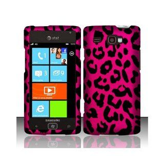 Pink Leopard Hard Cover Case for Samsung Focus Flash SGH I677 Cell Phones & Accessories