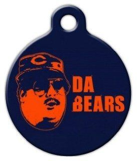 Da Bears   Chicago Bears   Custom Pet ID Tag for Dogs and Cats   Dog Tag Art   LARGE SIZE  Pet Identification Tags