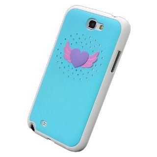 Bfun Purple Heart Wings Bling Hard Cover Case for Samsung Galaxy Note 2 N7100 Cell Phones & Accessories