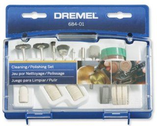 Dremel 684 01 20 Piece Clean & Polish Rotary Tool Accessory Kit With Case   Power Rotary Tool Accessories