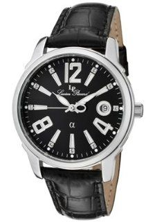 Lucien Piccard Men's A2201BK Black Leather Watch Watches