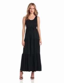 Chaus Women's Sleeveless Tank Dress with Drawstring Waist, Rich Black, Large