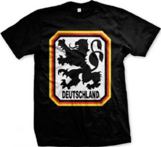 Deutschland Germany Lion Coat Of Arms Mens T shirt, German Country Pride Men's Tee Shirt Novelty T Shirts Clothing
