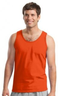 Gildan Adult Classic Banded Scoop Neck Bottom Hem Tank Top Clothing