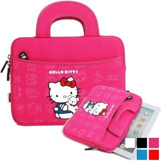 Hello Kitty Themed Apple iPad 2/3/4 Tablet Sleeve with Handles in Hot Pink (Neoprene, Water Resistant, Dual YKK Zippers, Outer Pocket, Soft Plush Inner Lining) Computers & Accessories
