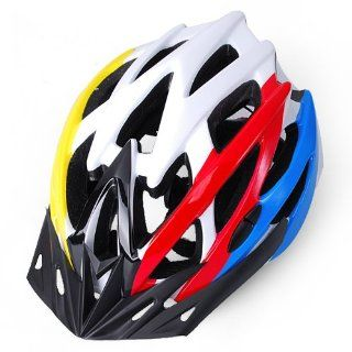 Brand New Cycling Bicycle Adult Mens Bike Adjust Safety Red & Yellow & Green & White Helmet With Visor  Bmx Bike Helmets  Sports & Outdoors