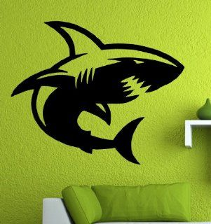 "Shark   Wall / Window Vinyl Decal Sticker / 22"" X 18.1"""